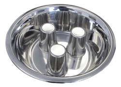 Standard Stainless Steel Brake-Fast Slow Feed Dog Food Bowl