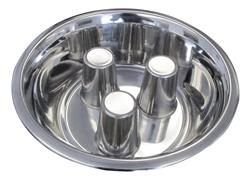 Standard Stainless Steel Brake-Fast Slow Feed Dog Food Bowl