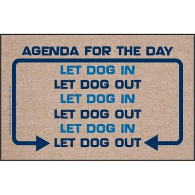 Agenda for the Day - Doormat