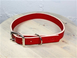 Red Thick Leather Dog Collar