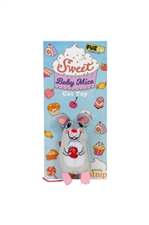Fuzzu Sweet Baby Mice Cat Toy with Organic Catnip