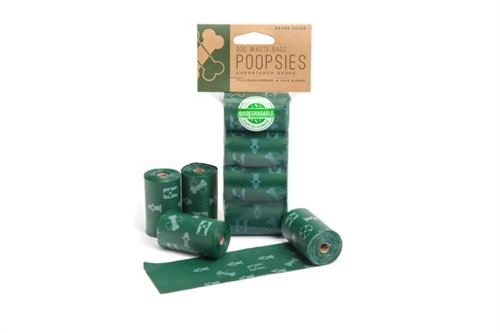 Poopsies Dog Waste Bags Extra Thick, 4 Rolls-60 Bags