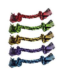 "MultiPet - 9"" Nuts for Knots 2-Knot Rope (Assorted Colors)"