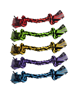 """9"""" Nuts for Knots 2-Knot Rope (Assorted Colors) by Multipet"""
