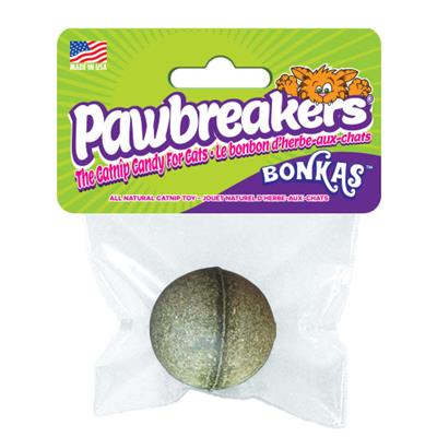 Pawbreakers Bonkas All Natural Catnip Ball for Cats