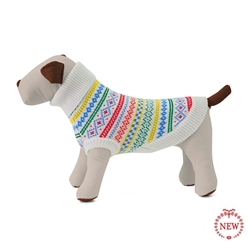 Fair Isle Party Stripe Dog Sweater