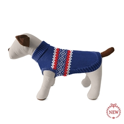 Fair Isle Classic Stripe Dog Sweater
