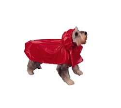 SLICKER RAIN PONCHO / RED
