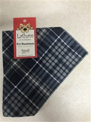 Blue Plaid Flannel Bandana