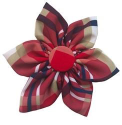 Huxley & Kent Red Madras Pinwheel