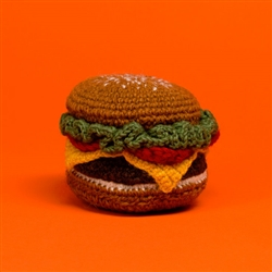HAND KNIT HAMBURGER