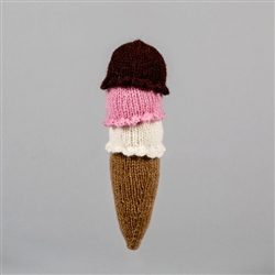 HAND KNIT ICE CREAM CONE