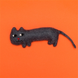 FELTED WOOL CAT