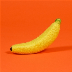 FELTED WOOL BANANA