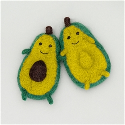 FELTED WOOL AVOCADO, SET OF 2