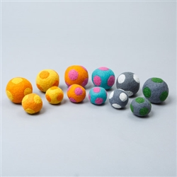 Polka Dot Boiled Wool Balls