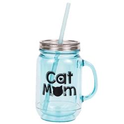 Cat Mom ... Acrylic Mason Jar Mug