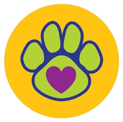 Paw with a Heart - Car Coaster