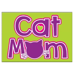 "Cat Mom - 3.5"" x 2.5"" Magnets"