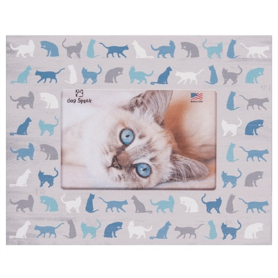 """All Over Cat Icons 7.5"""" x 9.5"""" Horizontal Picture Frame"""