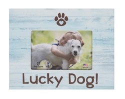 "Lucky Dog 7.5"" x 9.5"" Horizontal Picture Frame - SALE 50% OFF"