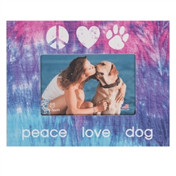 "Peace Love Dog 7.5"" x 9.5"" Horizontal Picture Frame"