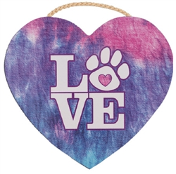 """8.75"""" x 8"""" Heart Shape Sign - Love"""