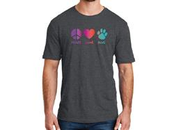 Peace Love Dog - Unisex T-Shirt