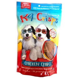 K9 Crisps Chicken Chips - 8oz Resealable Bag