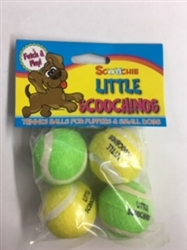 Little Scoochinos 4 Pack Puppy Tennis Balls 1.5 Inch