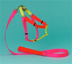 Pink, Orange & Yellow Color Block Nylon Harness
