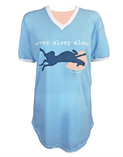 Never Sleep Alone women's sleep shirt