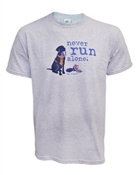 Never Run Alone unisex crew neck tee