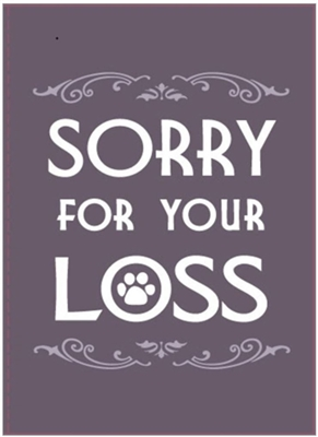 Sorry for Your Loss Greeting Cards - 6/pack