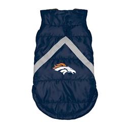 Denver Broncos Pet Puffer Vest