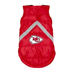 Kansas City Chiefs Pet Puffer Vest
