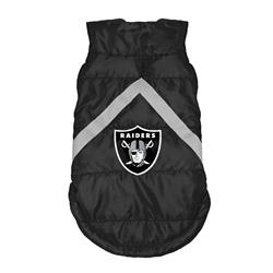 Oakland Raiders Pet Puffer Vest