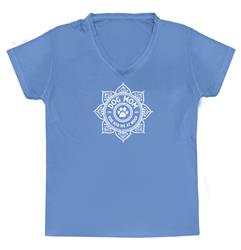 Dog Mom  - Lotus Medallion V Neck T-shirt