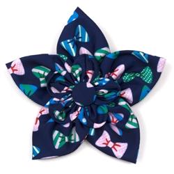 Bow Ties Navy Flower