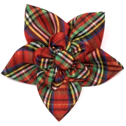 Holiday Lurex Plaid Flower