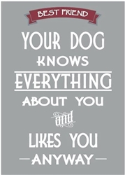 Best Friend - Dog Knows Everything about You and Likes You Anyway Fridge Magnets