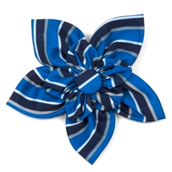 Prep Stripe Blue Flower
