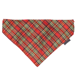 Red Lurex Plaid Bandana