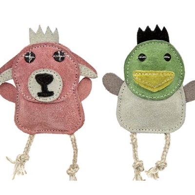 Squeaky All Natural Leather Wee Buddies- 2 pack