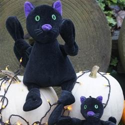 Plush Durable Black Cat Knottie
