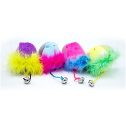 Peeps Bunny / Chick Feather Bell Cat Toy Assortment