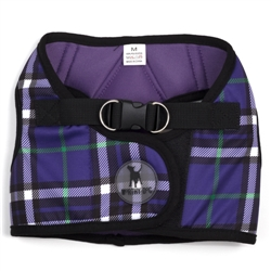 Sidekick Printed Purple Plaid Harness