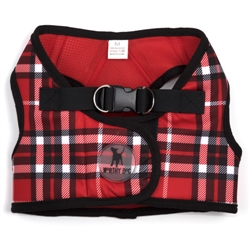 Sidekick Printed Red Plaid Harness