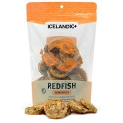 Icelandic+ Redfish Skin Rolls (Fish Treat) - 3oz bags