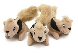 Outward Hound Squeakin' Animals Replacement 3 Pack Squirrels